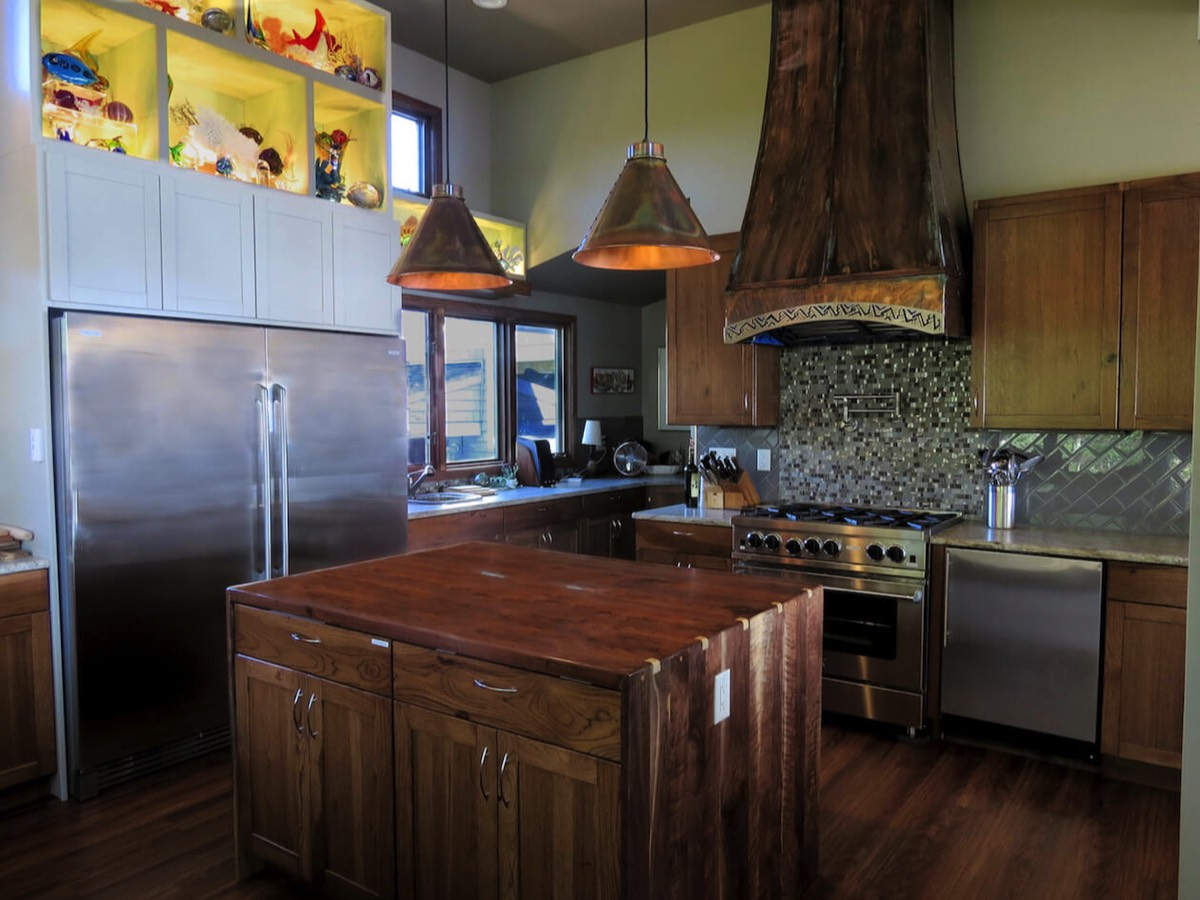 gourmet kitchen Stonington, CT waterfront rental