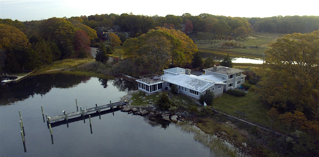 Aerial photography of 26 schoolhouse in Mystic CT 06355